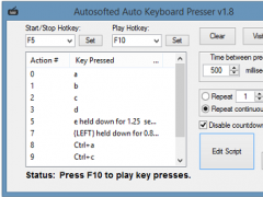 Auto Keyboard Presser by Autosofted 1.8 Screenshot