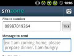 Auto Sms By Zone: Smzone 1.1 Screenshot