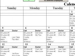 Automatic Doctors Calls with Excel 2.12 Screenshot