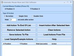 Automatic Mouse Move and Click Software 7.0 Screenshot