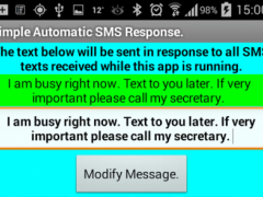 Automatic SMS Response. 1.0 Screenshot