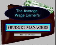 Average Wage Earners Budget Manager 1.0 Screenshot