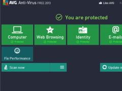 AVG AntiVirus FREE 2013.0.2899 Screenshot