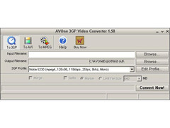AVOne 3GP Video Converter 2.40 Screenshot