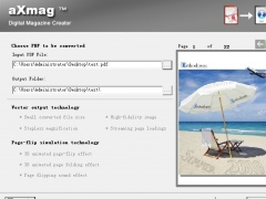 aXmag Page Flip book creator 2.42 Screenshot