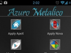 Azuro Metalico Launcher Theme 1.1 Screenshot