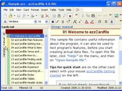 azzCardfile 4.1.16 Screenshot