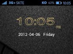 B.Gold GO Locker Theme 1.0 Screenshot