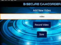 B-Secure Camcorder Premium 1.2 Screenshot
