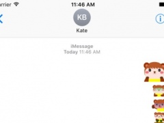 Baby Bear Animated Stickers For iMessage 1.0 Screenshot