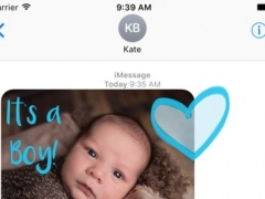 Baby sticker - babies text stickers for iMessage 1.0 Screenshot
