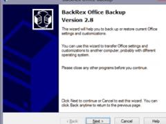 BackRex Office Backup 2.8.178 Screenshot