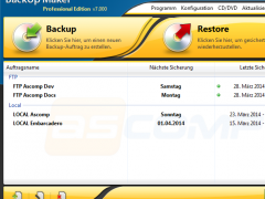 BackUp Maker 7.200 Screenshot