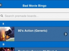 Bad Movie Bingo 1.2 Screenshot