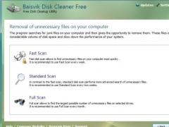 Baisvik Disk Cleaner Free 1.2.8.185 Screenshot