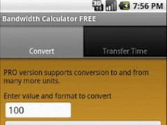 Bandwidth Calculator FREE 1.0.2 Screenshot