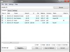 OFX2CSV 3.0.0.2 Screenshot
