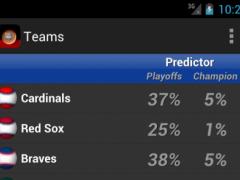 Baseball League Predictor 2014 3.0 Screenshot