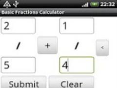 Basic Fractions Calculator 1.12 Screenshot
