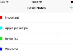 Basic Notes. 1.0 Screenshot