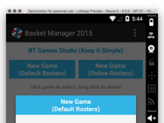 Basket Manager 2015 4.0 Screenshot