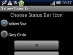 Battery Status Bar 1.1 Screenshot
