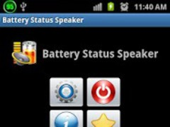 Battery Status Speaker 1.0.3 Screenshot