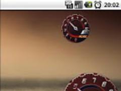 Battery Widget Lamborghini Red 1.5 Screenshot