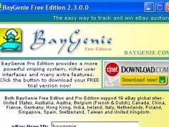 BayGenie eBay Auction Sniper Free 3.3.6.6 Screenshot