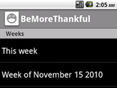 Be More Thankful 1.0 Screenshot
