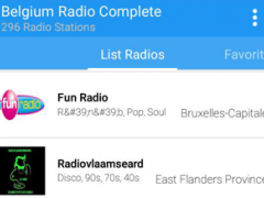 Belgium Radio Complete 2.0 Screenshot