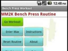 Bench Press Workout 1.2 Screenshot