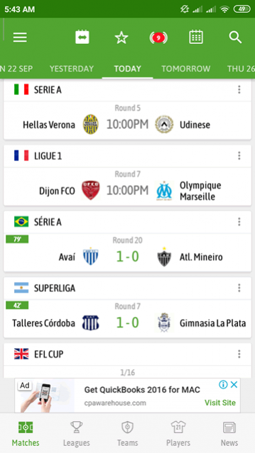 Besoccer Soccer Live Score Free Download