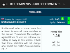 Bet Comments - Pro Bet Tips 1.6 Screenshot
