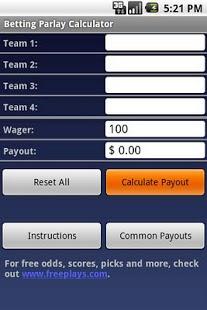Betting parlay calculator betting shops saundersfoot wales