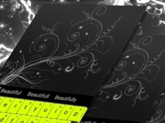 Neon Green Letters Keyboard 1.279.13.89 Screenshot