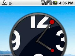 Big White Numbers Clock Widget 1.0 Screenshot
