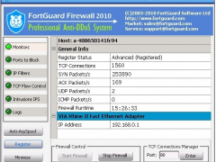 FortGuard Anti-DDoS Firewall advanced 2.6 Screenshot