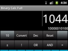 Binary Calc Full (Converter) 1.8 Screenshot