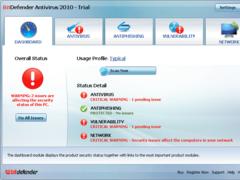 BitDefender Antivirus 2010 Screenshot