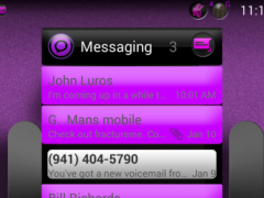 BLACK CHROME PURPLE LAUNCHER 3.0.3 Screenshot