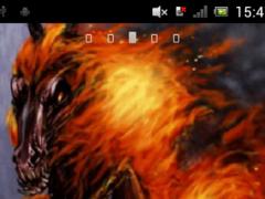 Black horse on fire Live WP 1.0 Screenshot