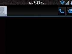 Black 'n Blue GoSMS Theme 1.1 Screenshot