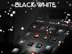 Black&White GO Launcher Theme 4.177.83.90 Screenshot
