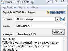 BLANCHESOFT SMSJoy 1.0.2 Screenshot