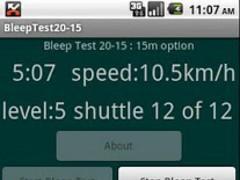 Bleep Test 20-15 1.1 Screenshot