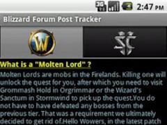 Blizzard Forum Post Tracker 3.0 Screenshot