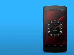 Blood Red HD Analog Clock LWP 1.2 Screenshot