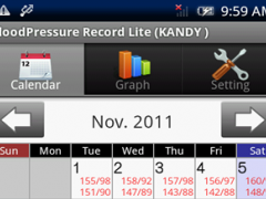 BloodPressure Record Lite 2.0.8 Screenshot