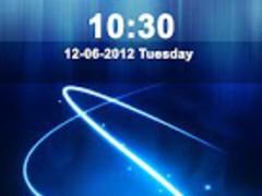 Blue Abstract Locker Theme 2.2 Screenshot